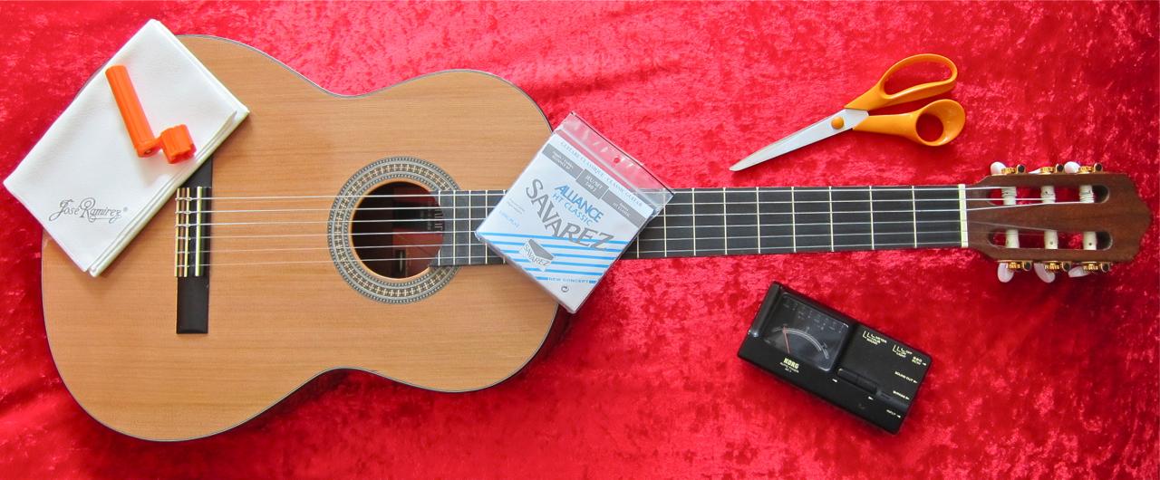 Kielten vaihto nailonkieliseen kitaraan